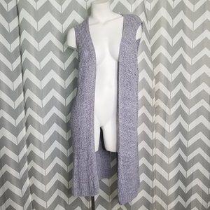 NIC + ZOE purple long cardigan
